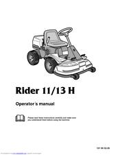 Husqvarna Rider 13 H Manual