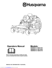Husqvarna BZ7234D Manuals