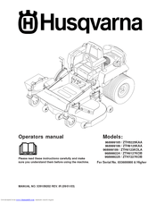 Husqvarna 968999224 / ZTH6127KOB Manuals