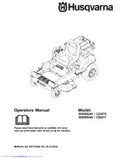Husqvarna CZ4217 Manuals