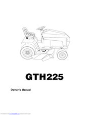 Husqvarna GTH225 Manuals