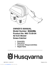 Husqvarna H242SL Manuals