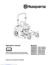 Husqvarna iZ4821KAA, iZ5223KAA, iZ5223 Manuals
