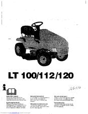 Husqvarna LT112 Manuals