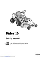 Husqvarna Rider 16 Manuals