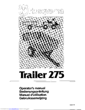 Husqvarna Trailer 275 Manuals