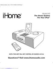 Ihome iH6 Manuals