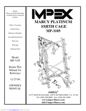 Impex MARCY PLATINUM MP-3105 Manuals