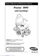 Invacare Pronto M71 Base Manuals