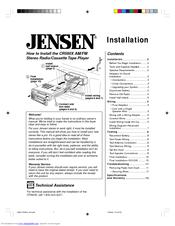 Jensen CR560X Manuals