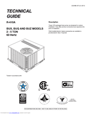 Johnson Controls Duct R-410A Manuals