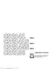 Jonsered CS 2171 Manuals