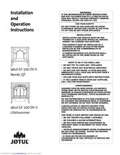 Jøtul GF 100 DV II Nordic QT Manuals