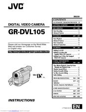 Jvc GR-DVL105 Manuals
