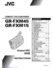 Jvc GR-FXM15EG Manuals