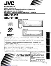 Jvc KD-LX111R Manuals