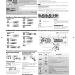 Jvc Kd R200 Wiring Diagram 2 Hpm Dimmer Switch R316 Manuals Instructions Installation Manual