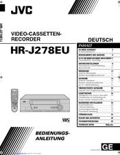 Jvc HR-J278EU Manuals