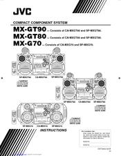 Jvc MX-G70 Manuals
