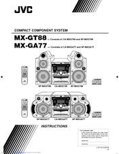 Jvc MX-GT88 Manuals
