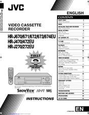 Jvc HR-J670EU Manuals