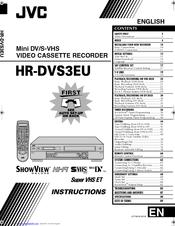 Jvc HR-DVS3EU Manuals