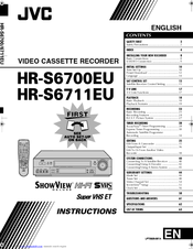 Jvc HR-S6700EU Manuals