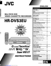 Jvc HR-DVS3EU Manuals