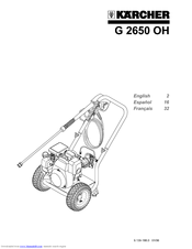 Karcher G 3050 OH Manuals