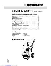 Karcher Pressure Cleaner Instructions