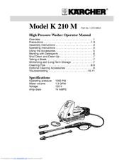 Karcher K 210 M Manuals