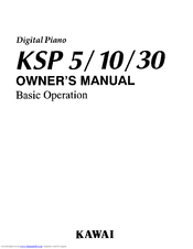 Kawai Digital Piano KSP5 Manuals