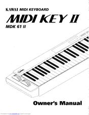 Kawai Midi Keyboard MDK 61 II Manuals