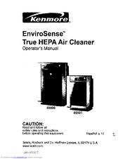 Kenmore ENVIROSENSE 85500 Manuals