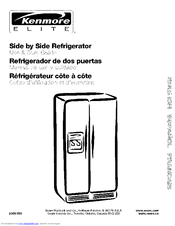 Kenmore Elite Side by Side Refrigerator Manuals