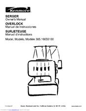 Kenmore 385.166551 Manuals
