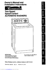 Kenmore 110.29882891 Manuals