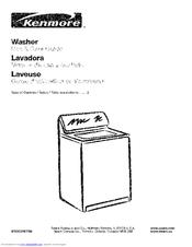 Kenmore 800 Series Manuals