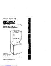 Kenmore Washer/Dryer Manuals