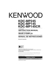 Kenwood KDC-MP245 Manuals