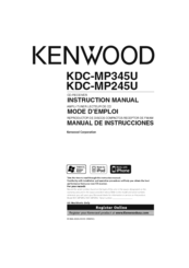 Kenwood KDC-MP345U Manuals