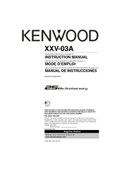Kenwood XXV-03A Manuals