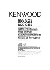 Kenwood KDC-C669 Manuals