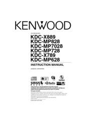 Kenwood KDC-X889 Manuals