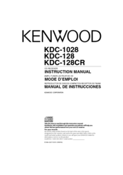Kenwood KDC-1028 Manuals