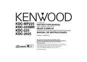 Kenwood KDC-225MR Manuals