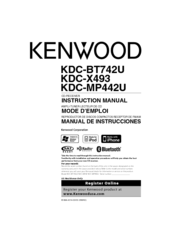 Kenwood eXcelon KDC-X493 Manuals