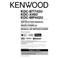 Kenwood Kdc Car Stereo Wiring Diagram Trailer 7 Pin 4 Wires Mp442u Manuals Instruction Manual