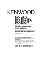 Kenwood KDC-X579 Manuals