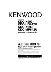 Kenwood KDC-X693 Manuals